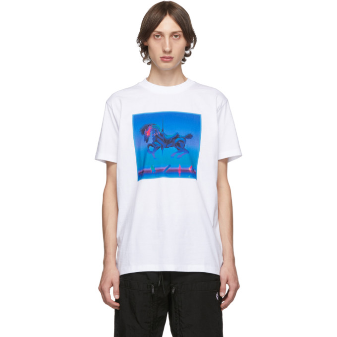 Marcelo Burlon | Marcelo Burlon County of Milan White Horse T-Shirt | Clouty