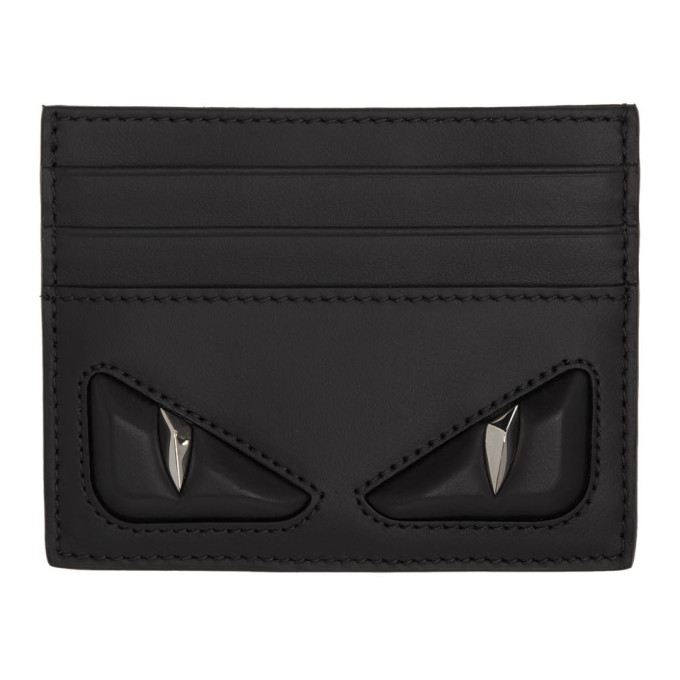 FENDI | Fendi Black Bag Bugs Card Holder | Clouty