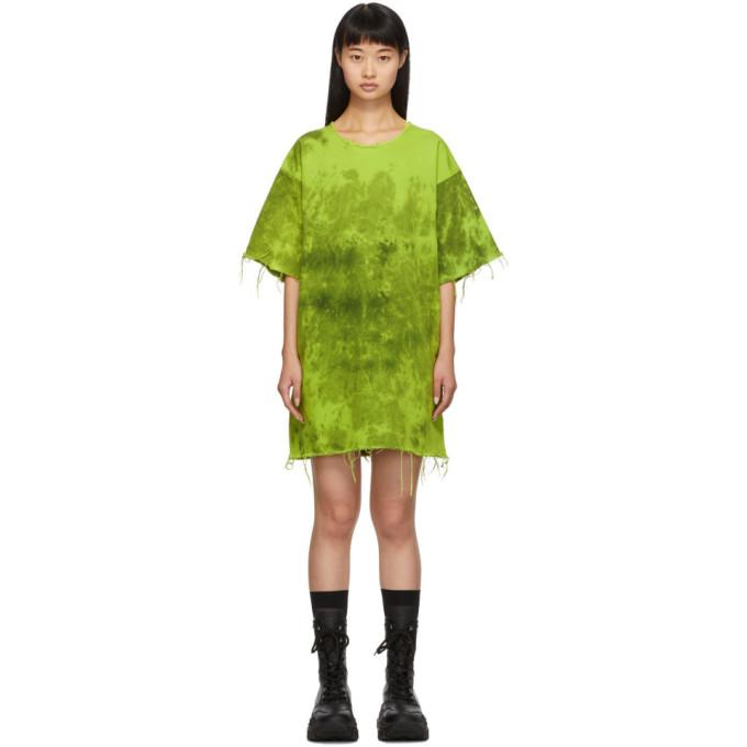 MARQUES'ALMEIDA   Marques Almeida Green Denim Tie Dye Dress   Clouty