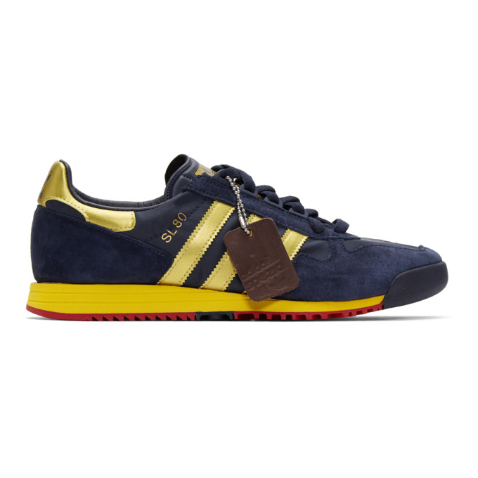 adidas Originals | adidas Originals Navy and Gold SL 80 SPZL Sneakers | Clouty