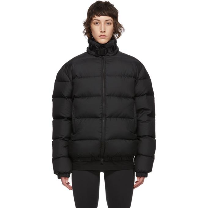 1017 ALYX 9SM | 1017 ALYX 9SM Black Down Buckle Puffer Jacket | Clouty