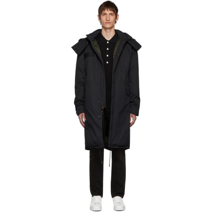 Mr & Mrs Italy   Mr and Mrs Italy Black Cotton Deerskin Coat   Clouty