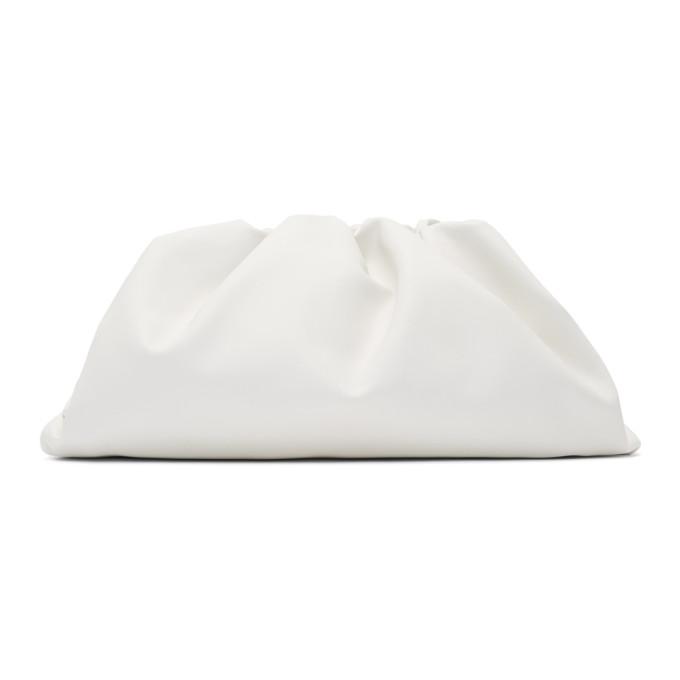 Bottega Veneta | Bottega Veneta White Oversized The Pouch Clutch | Clouty