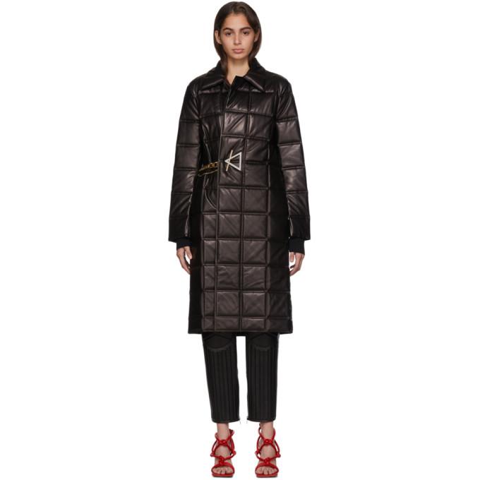 Bottega Veneta | Bottega Veneta Black Lambskin Quilted Coat | Clouty