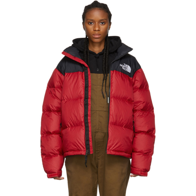 The North Face   The North Face Red and Black Down 1996 Retro Nuptse Jacket   Clouty