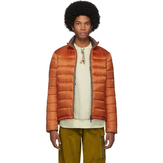 Herno | Herno Reversible Orange Ultralight Down Jacket | Clouty