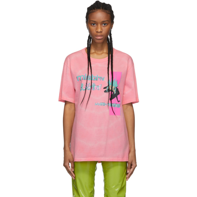 Misbhv | MISBHV Pink Tie-Dye Anime T-Shirt | Clouty