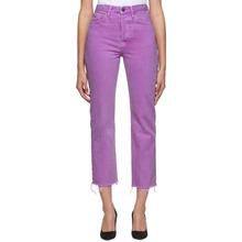 Grlfrnd Purple Mica Crop Jeans