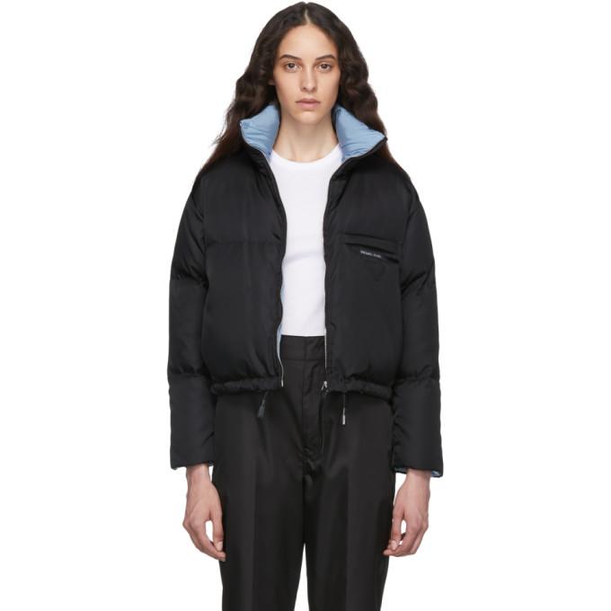PRADA   Prada Black Down Cropped Jacket   Clouty