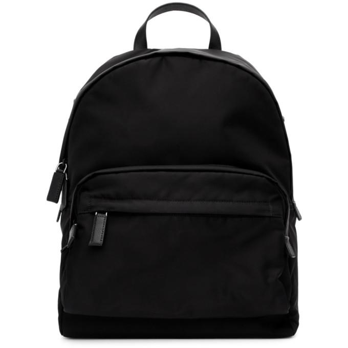 PRADA | Prada Black Nylon Montagna Backpack | Clouty