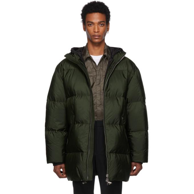 PRADA | Prada Green Down Long Jacket | Clouty