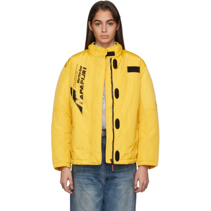 Napa By Martine Rose | NAPA by Martine Rose Yellow A-Sand Jacket | Clouty