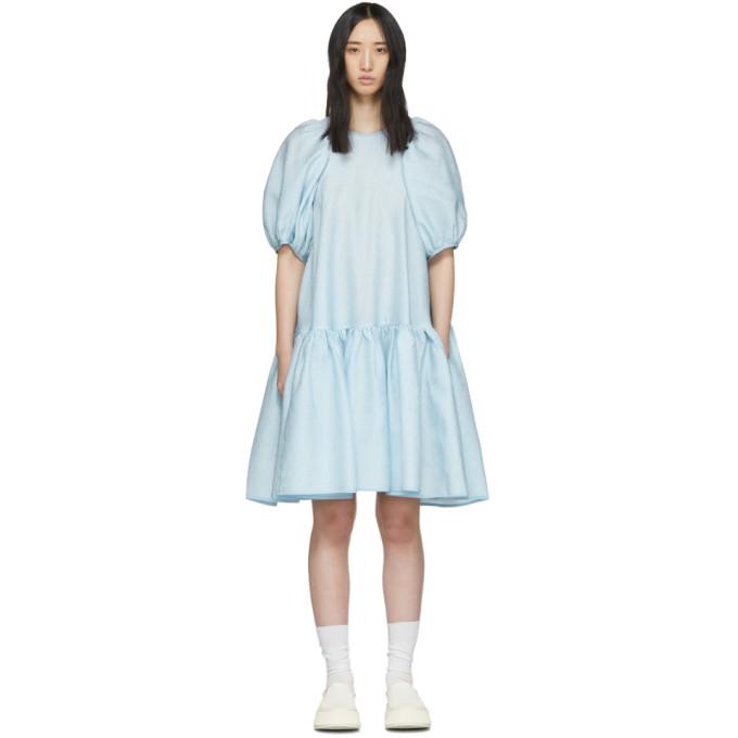 Cecilie Bahnsen | Cecilie Bahnsen Blue Silk Alexa Dress | Clouty