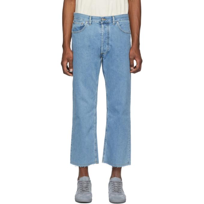 Maison Margiela | Maison Margiela Blue Denim Stonewashed Jeans | Clouty