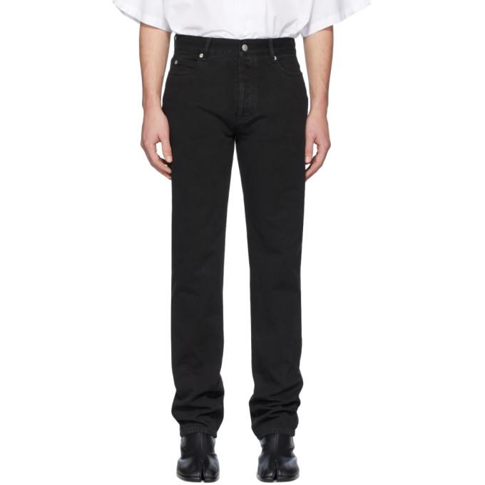 Maison Margiela | Maison Margiela Black Garment-Dyed Straight-Leg Jeans | Clouty