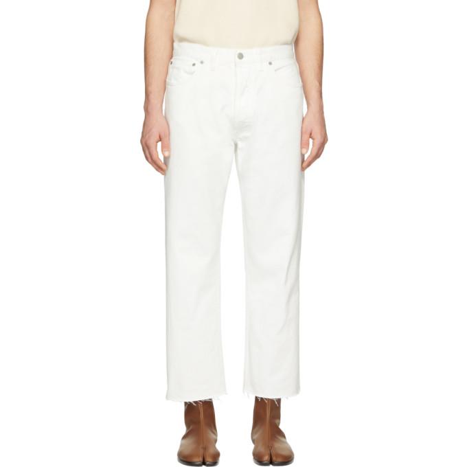 Maison Margiela | Maison Margiela White Frayed Jeans | Clouty
