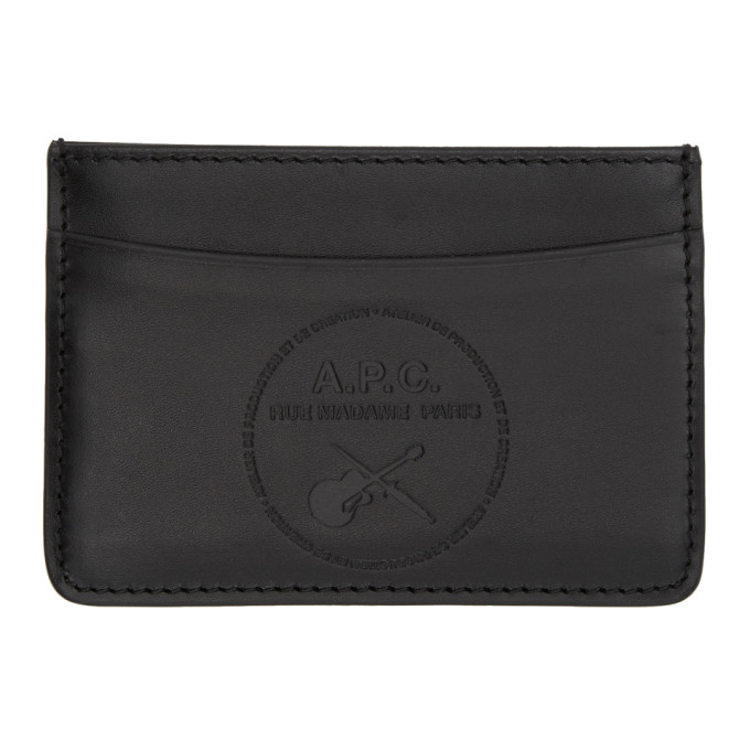 A.P.C. | A.P.C. Black Guitare Poignard Card Holder | Clouty