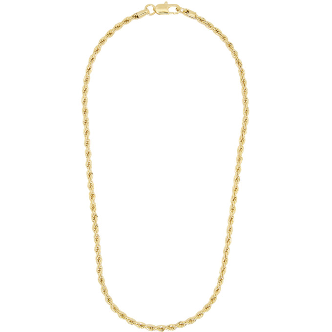 Laura Lombardi | Laura Lombardi Gold Rope Chain Necklace | Clouty