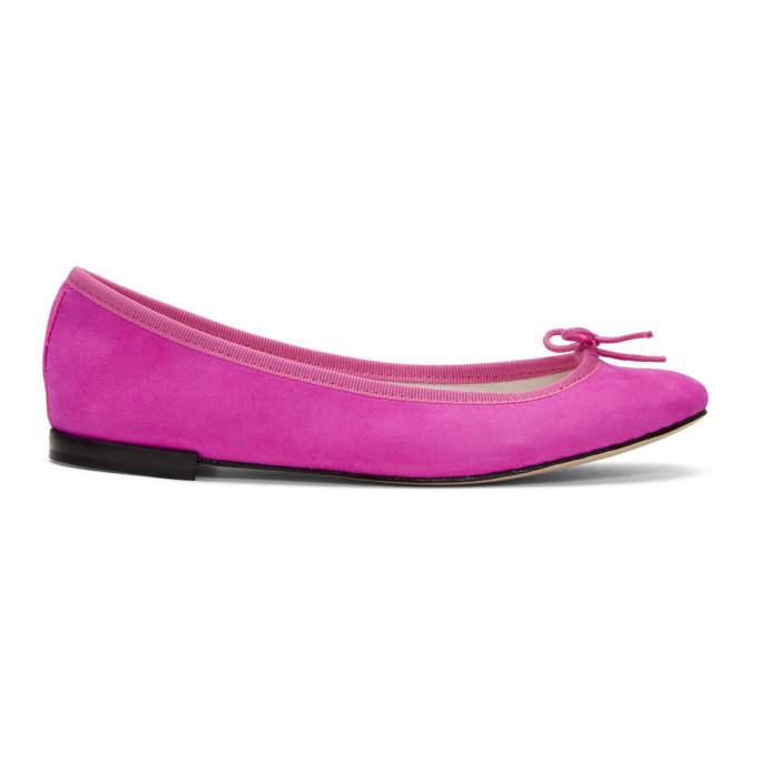 Repetto   Repetto Pink Suede Cendrillon Ballerina Flats   Clouty