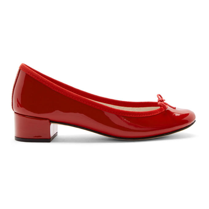 Repetto | Repetto Red Patent Camille Ballerina Heels | Clouty