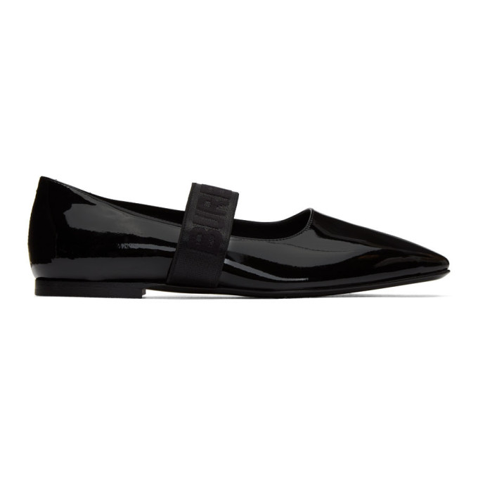 BURBERRY | Burberry Black Patent Pennine Ballerina Flats | Clouty