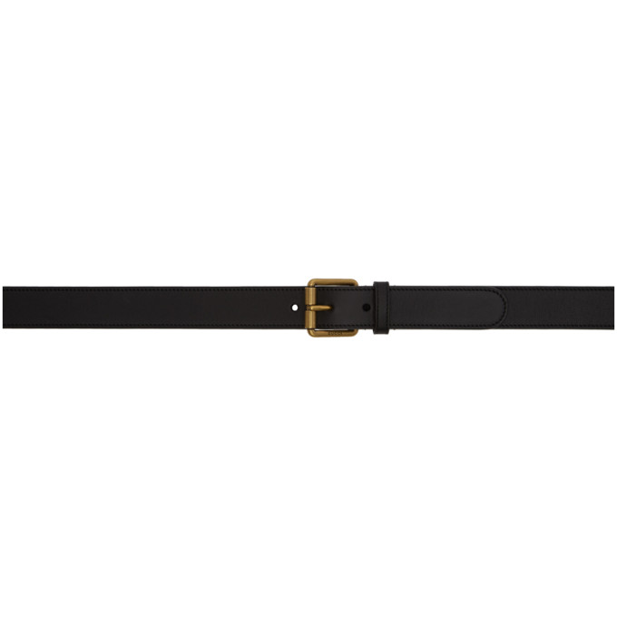 GUCCI | Gucci Black Leather Horsebit Belt | Clouty