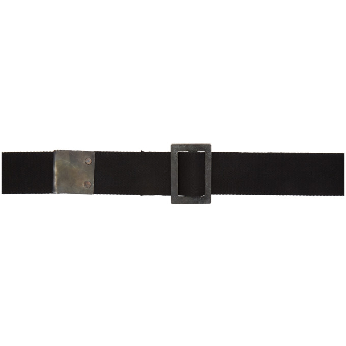 Boris Bidjan Saberi | Boris Bidjan Saberi Black Object Dyed Belt | Clouty