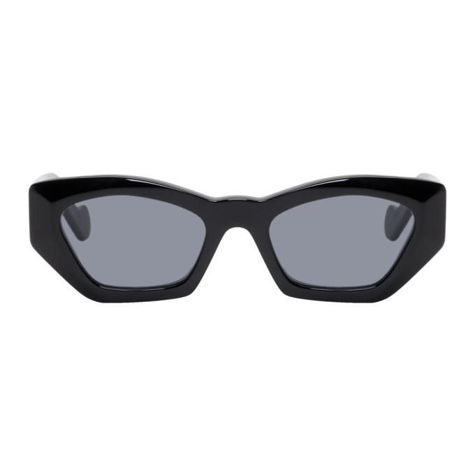 Loewe | Loewe Black Acetate Butterfly Sunglasses | Clouty