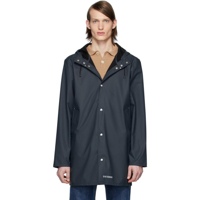 Stutterheim | Stutterheim Navy Stockholm Lightweight Raincoat | Clouty