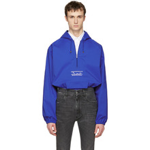 Фото Martine Rose Blue Windcheater Hooded Jacket