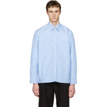 Фото Martine Rose Blue Striped Oversized Shirt