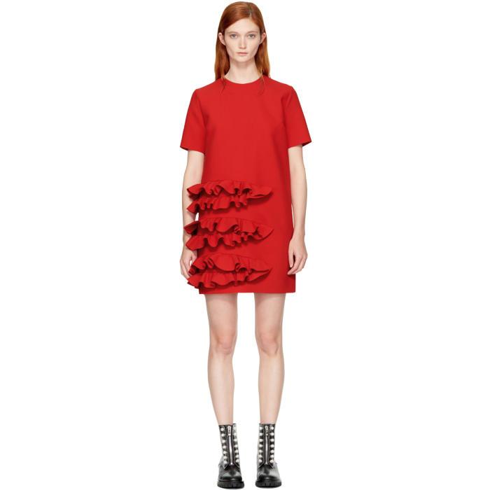 MSGM   MSGM Red Ruffle Dress   Clouty