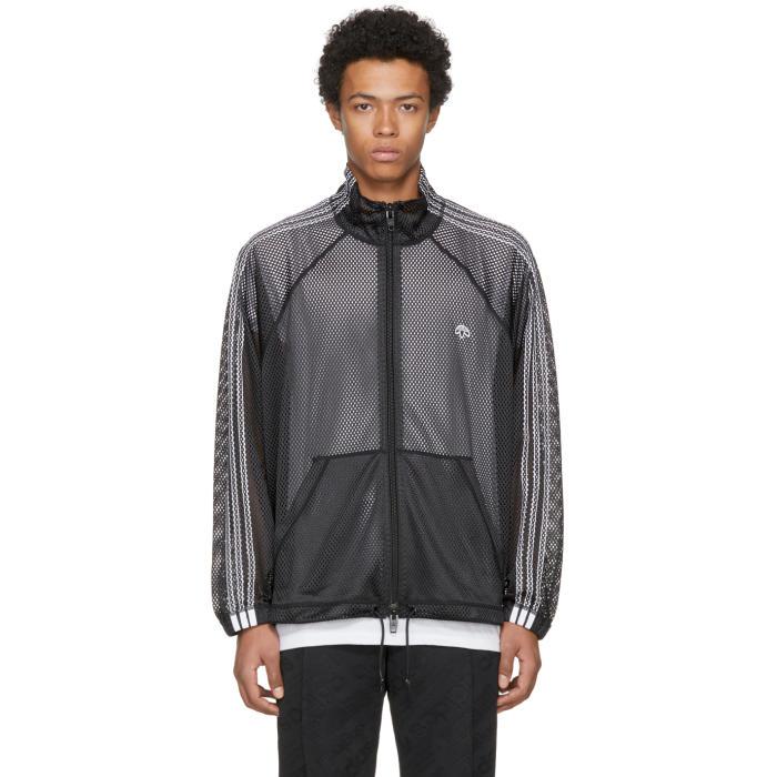 adidas Originals by Alexander Wang   adidas Originals by Alexander Wang Black AW Mesh Track Jacket   Clouty