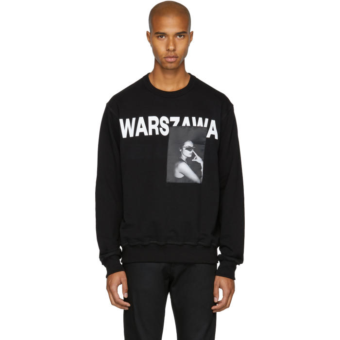 MISBHV Black Warszawa Crewneck Sweatshirt