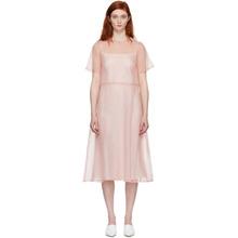 Mansur Gavriel Pink Silk Voluminous Dress
