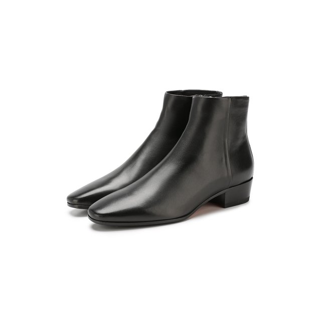 Santoni | Чёрный Кожаные ботинки Santoni | Clouty