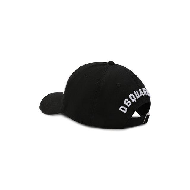 DSQUARED2 | Чёрно-белый Хлопковая бейсболка Icon Dsquared2 | Clouty