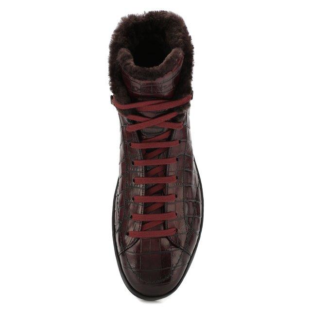 Doucal'S | Красный Кожаные кеды Doucal's | Clouty