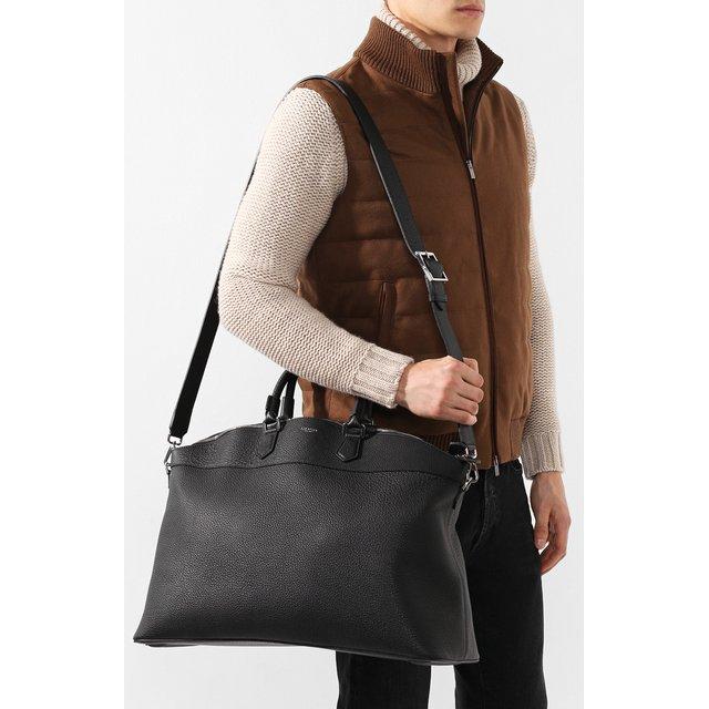Serapian | Чёрный Кожаная дорожная сумка Serapian | Clouty