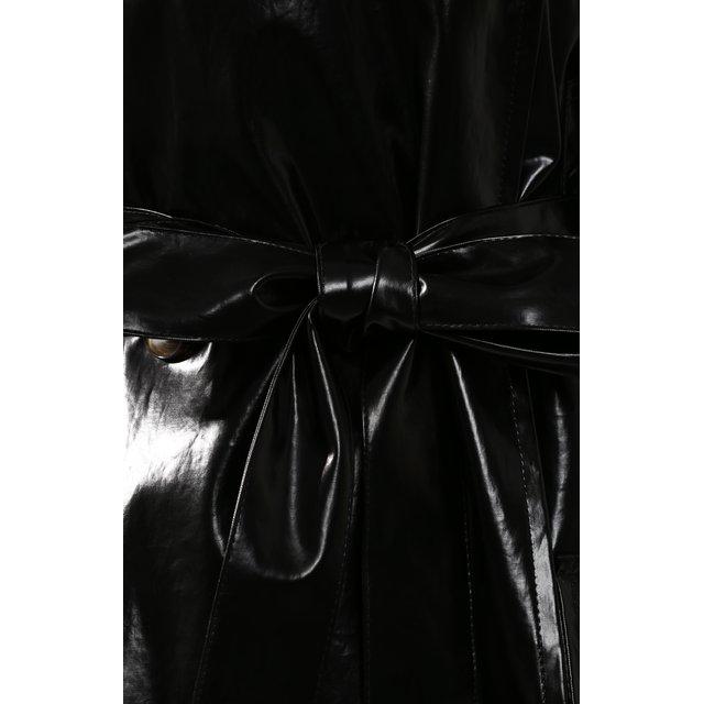 Nanushka | Чёрный Плащ с поясом Nanushka | Clouty