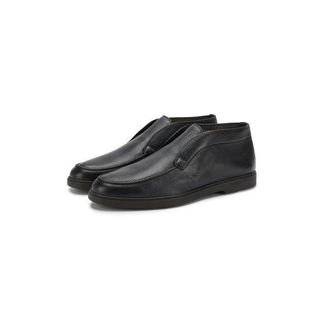 Santoni | Синий Кожаные ботинки Santoni | Clouty