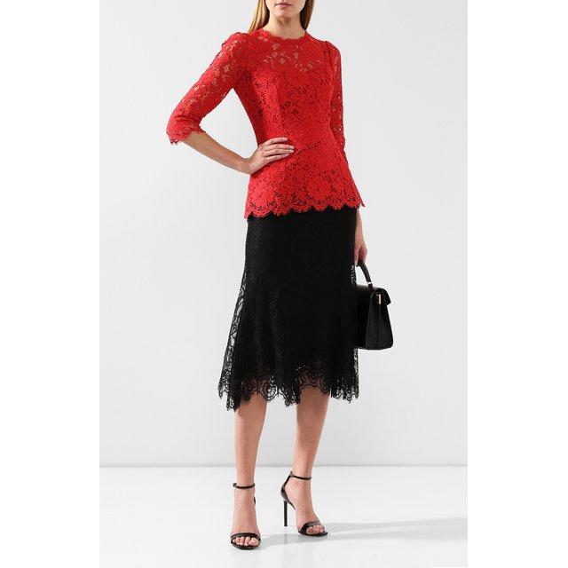 Dolce & Gabbana | Чёрный Кружевная юбка Dolce & Gabbana | Clouty