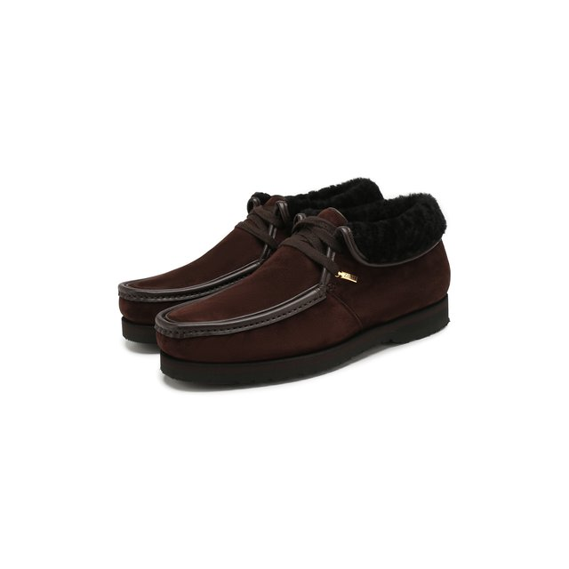 Zilli | Коричневый Замшевые ботинки Zilli | Clouty