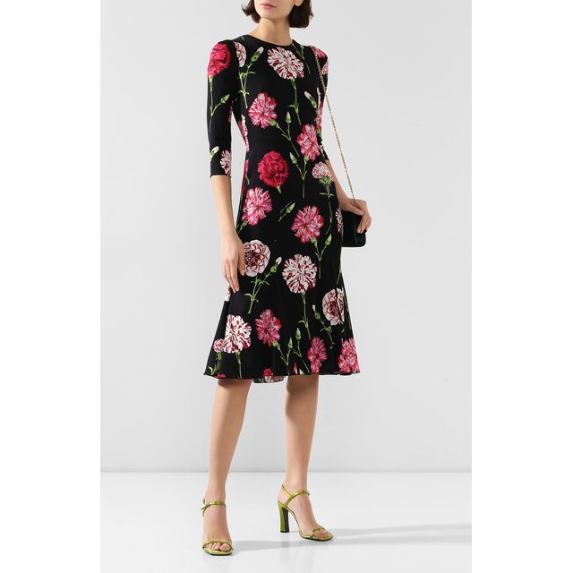 Dolce & Gabbana | Чёрный Шелковое платье Dolce & Gabbana | Clouty