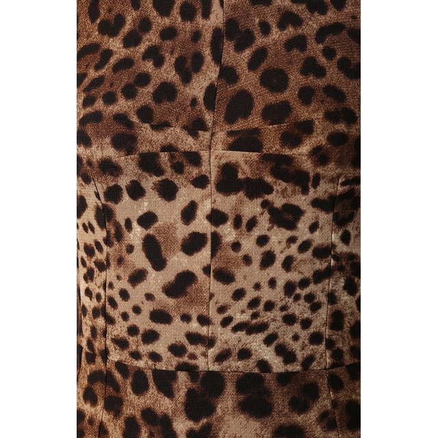 Dolce & Gabbana   Коричневый Шерстяное платье Dolce & Gabbana   Clouty