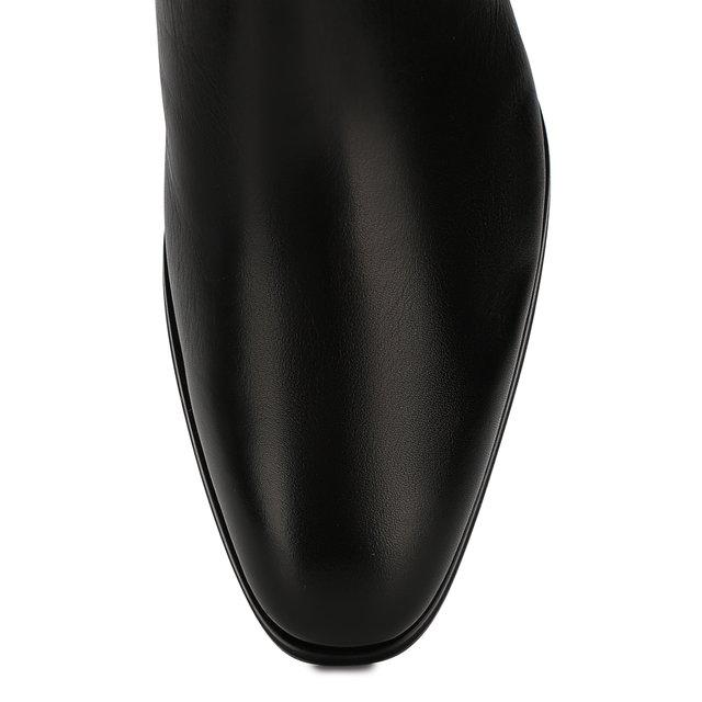 Santoni | Чёрный Кожаные сапоги Santoni | Clouty