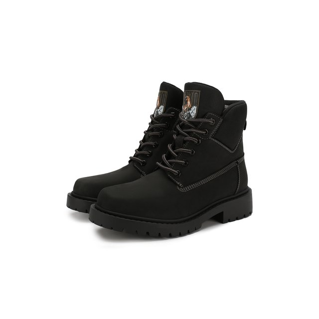 KENZO | Чёрный Кожаные ботинки Kenzo | Clouty