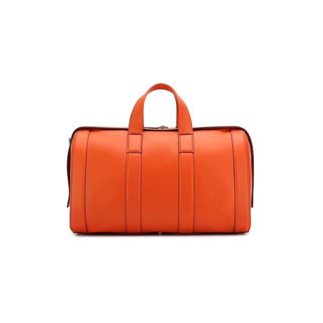 Bottega Veneta | Оранжевый Кожаная дорожная сумка Bottega Veneta | Clouty