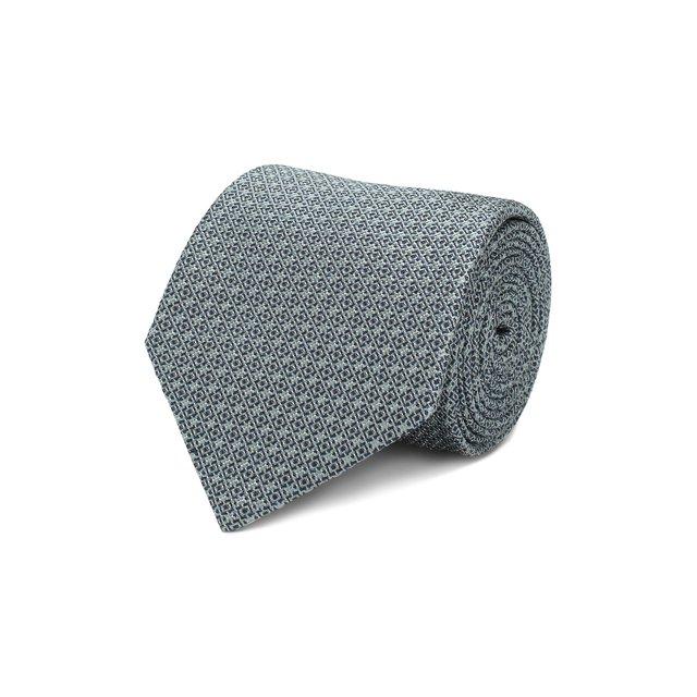 Brioni   Зелёный Шелковый галстук Brioni   Clouty