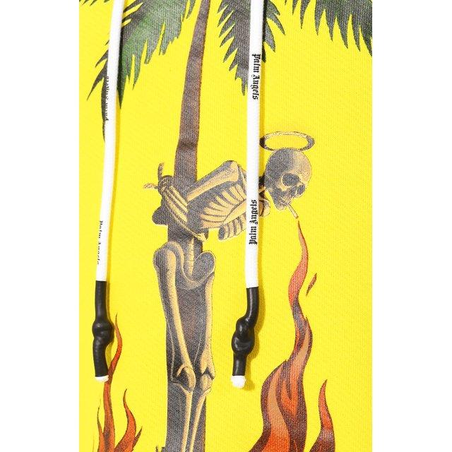 Palm Angels | Жёлтый Хлопковое худи Palm Angels | Clouty